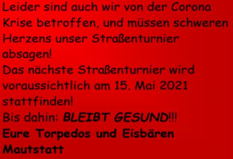 Absage Stockturnier 2020 in Mautstatt
